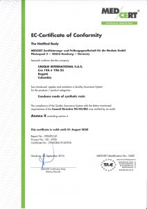 Unique Condoms - Regulatory Certifaction for Columbia. Non Latex High Performance Condoms and Lubricant