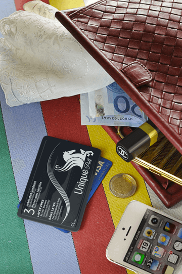 Unique Condoms - Credit Card Sized, And Easy To Carry. Non Latex High Performance Condoms and Lubricant.