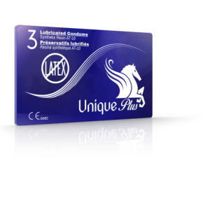 Unique Condoms - Unique Plus For Large Sized Men. Non Latex High Performance Condom